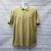 Lacoste Mens Polo Shirt Yellow Classic Fit Short Sleeves 100% Cotton Top XXL