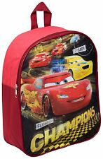 NUOVO Disney Cars RACERS Edge Scuola Materna Bambino Junior Bambini Ragazzi Zaino Borsa