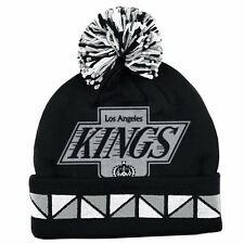 LOS ANGELES KINGS 2 FACE CUFFED JACQUARD KNIT BEANIE HAT TOQUE SKI CAP NWT