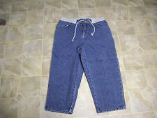 JEANSWEAR Stretch Tie Waist Cotton Denim Jeans Capris 28X20 Women's  6 M  #3573