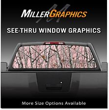 Camo Pink Snowstom Rear Window Decal Graphic Sticker for Truck SUV