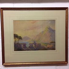Leopold C. Leeson Rowbotham Fine Watercolour Classical Ruins Southern Italy