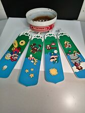 """1988 Nintendo Super Mario Brothers Ceiling Fan - """"Pieces For Repairs"""" 4 total."""