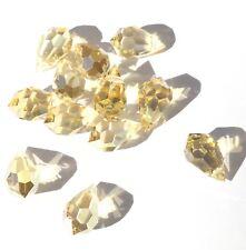 Czech Preciosa Crystal Teardrop Pale Orange 12 Loose Beads