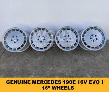 "GENUINE MERCEDES W201 190e 2.5 16V EVO I 16"" WHEELS R129 R126 R123"