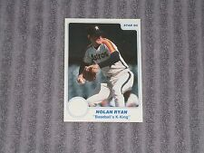 NOLAN RYAN- STAR NBA PROMO CARD- 1985