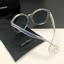 Dolce & Gabbana DG6075-M 2711/8F Clear Blue Mirrored Cat-Eye Sunglasses Italy