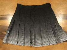 american apparel womens geometric black white pleated tennis mini short skirt xs