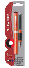 Sheaffer Viewpoint Calligraphy Pen Orange & 2 ink cartridges Broad Pt New