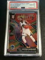 KEVIN DURANT 2017 PANINI TOTALLY CERTIFIED #1 THE MIGHTY FOIL INSERT PSA 10 POP2
