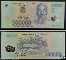 VIETNAM Polymer Plastic Banknote 500000 Dong UNC