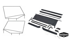 1992-1995 Jeep Wrangler Frameless Soft Top Hardware Channel and Frame Kit