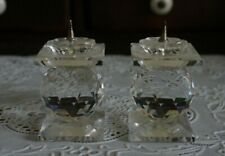 Vintage A Pair of Swarovski Crystal Pin Candle Holder