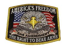 AMERICA'S FREEDOM SECOND 2ND AMENDMENT RIGHT TO BEAR ARMS PATCH EAGLE FLAG