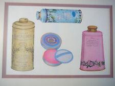 California Perfume Company matted print - Violet Almond Meal & talcum - Avon