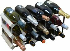 15 Bottle Traditional Wooden Wine Bottle Storage Rack - Assembled - Light Wood