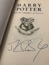 Signed By JK Rowling Harry Potter And The Chamber Of Secrets UK Paperback