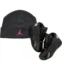 Infant Nike Air Jordan 13 XIII CB Crib Shoes Black/Pink 552664-009 (Size 2c)