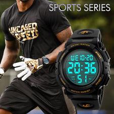 SKMEI Watch Mens Watches Waterproof Sport Quartz Outdoor LED Digital Wristwatch
