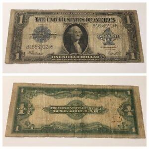 VINTAGE 1923 SILVER CERTIFICATE $1 ONE DOLLAR WASHINGTON BLUE SEAL BILL NOTE