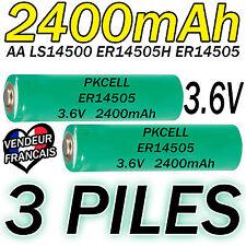 3 PILES ACCUS LITHIUM 3.6V AA ER14505 LS14500 ER14505H Li-socl2 2400Mah BATTERY