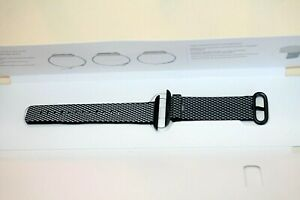 Apple Watch Woven NYLON Band 38MM   Space Gray buckle Black small