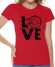 LOVE Volleyball Women's T shirt Tops Volleyball Gifts Game Day