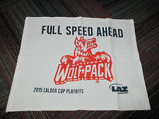 "NEW PROMO 2015 HARTFORD WOLF PACK HOCKEY PLAYOFFS ""FULL SPEED AHEAD"" TOWEL 18X15"