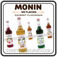Monin Syrup Flavors for Coffee Tea Smoothie Soda Slushy Boba Cold Hot Beverage