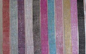 3cm (1.2inch) Multi Colors Diamante Diamond Rhinestone Mesh Ribbon Crystal Wrap