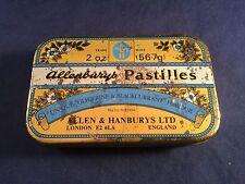 Vintage Allenbury's Pastilles Lozenge Tin 2OZ Allen & Handburys London England