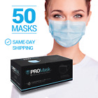 50 PCS Disposable Face Mask 3-Ply Non Medical Surgical Earloop Mouth Dust Cover  <br/> SAME DAY SHIPPING! (MON-SAT)