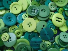 100 Green Sewing Buttons