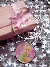 Nouvelle princesse Tinkerbell Bracelet Breloque Bracelet Boîte Cadeau] Taille 3,4,5,6 7 ans
