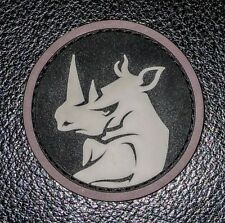 RHINO HEAD PVC TACTICAL MILITARY MORALE USA  ARMY MILSPEC SWAT HOOK PATCH