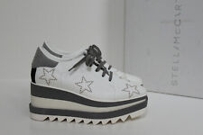 New sz 6.5 / 36.5 Stella Mccartney Elyse White Star Platform Wedge Oxford Shoes