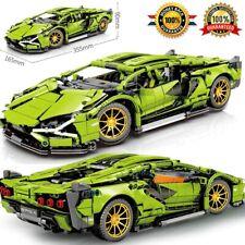 Technic Racing Building Blocks MOC Simulation Green Super Sports Car Model Brick