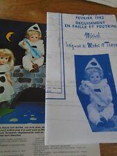 """T2 PATRON POUPEE """" MICHEL BAIGNEUR"""" M ET TRAVAUX"""" DEGUISEMENT PIERROT  1982"""