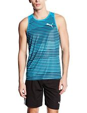 Men's PUMA Running Vest Tank Top Sleeveless T-shirt - Gym Fitness Training L