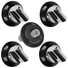 BEKO DCG61SP Oven Cooker Hob Flame Burner Control Knob Switch Silver / Black x 5