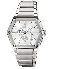 Breil Mark Acciaio Esagonale Acciaio Crono Mark TW0650 Bianco Data Watch Man Uhr