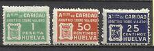 4102 SELLOS BENEFICOS CARIDAD HUELVA ARBITRIO VIAJEROS GUERRA CIVIL,NUEVOS.
