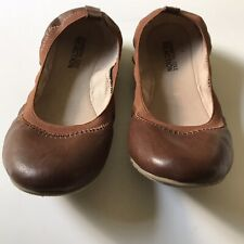 Kenneth Cole Reaction Leather Ballet Flats Brown Sz 6.5 M