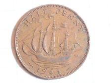 Coin Great Britain Half Penny 1944 Georgivs Vi D: G: Br: Omn: Rex F: D: Ind: I