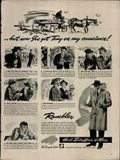1941 Hart Schaffner & Marx Rambler Men Coat Vintage Print Ad 3304