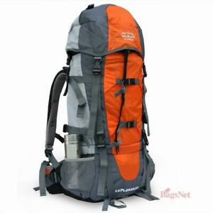 75L outdoor hiking camping backpack Internal Framed with Waterproof Cover #157