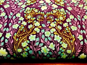 1/2 YD PARROT PRATTLE Monkey Wrench  Tula Pink  Cotton Fabric Quilt Bird Purple