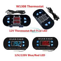 W1308 Digital 12V/220V Red/Blue LED Thermostat Sensor Temperature Controller