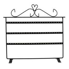72 Holes Earrings Jewelry Display Rack Metal Stand Holder Necklace Showcase