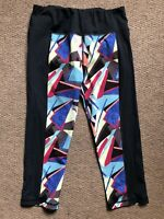 Sweaty Betty Medium Rainbow Geometric Stretch Cropped Exercise Yoga Gym Leggings